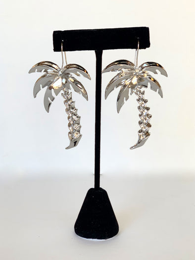 Find Me Under the Palms Earrings in Silver
