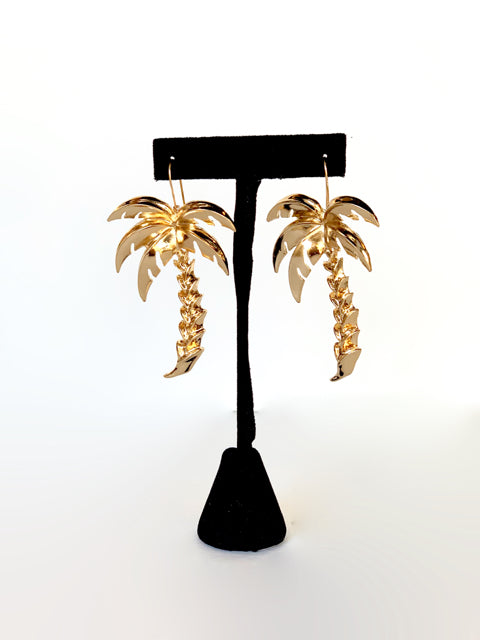 Find Me Under the Palms Earrings in Gold
