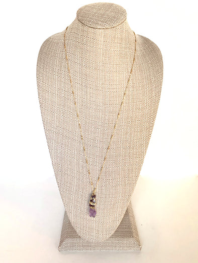 Sunset Daze Necklace in Purple