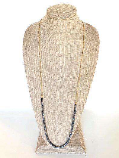 Layers of the Sand Necklace in Grey