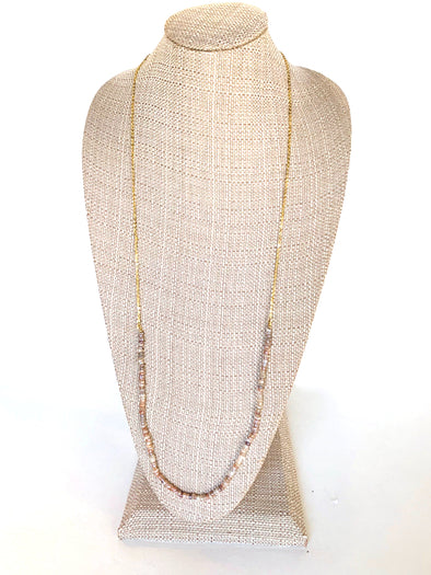 Layers of Sand Necklace in Peach Neutrals