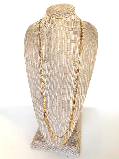 Long Vegas Nights Necklace in Gold