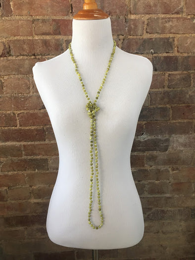 Spring Grass Necklace with Crystal