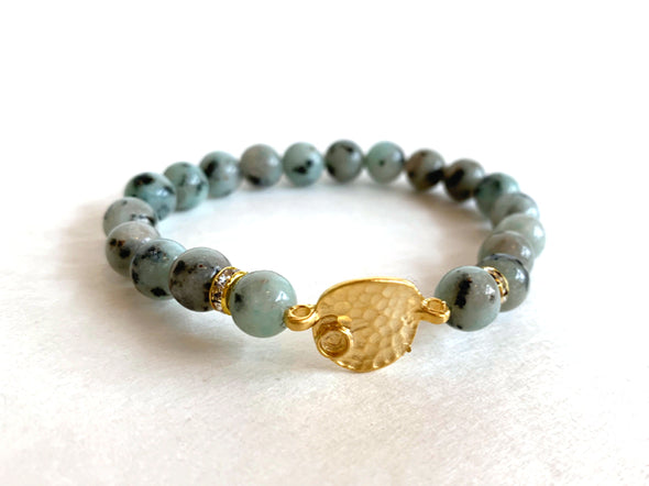 Jasper Stone Bracelet with Connector