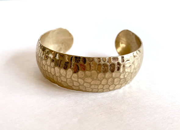 Hammered Cuff in Gold