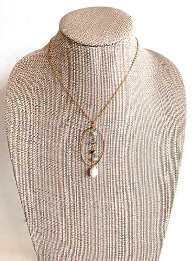 Chasing Waterfalls Necklace in Blue Larimar