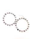 Wrap and Roll Hoops - Silver & Lilac Stone