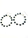 Wrap and Roll Hoops - Silver & Black Marble