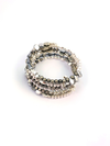 Walk This Way Wrap Bracelet - Silver Mixed