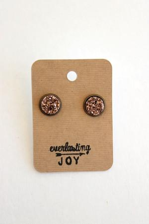 Sunshine & Whiskey Studs - Rose Gold