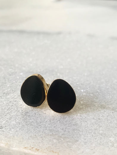 Seaside Studs - Black Onyx