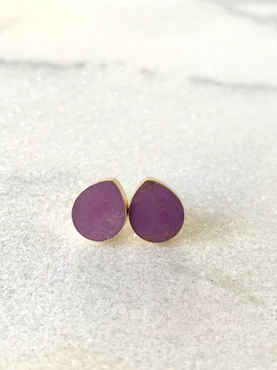 Seaside Studs - Sugilite