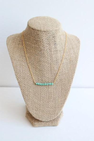 Ocean Blue Bar Necklace