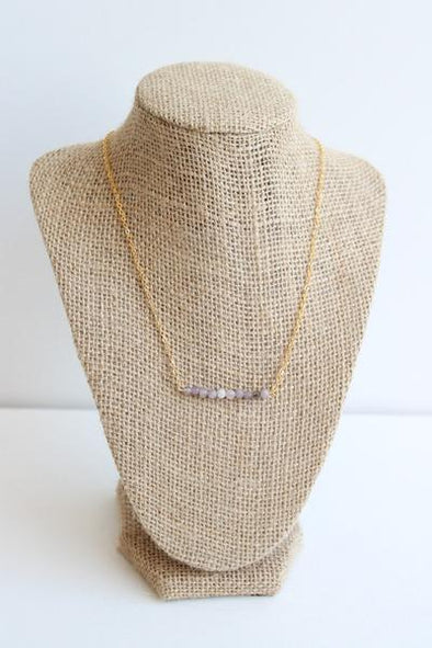 Lilac Bar Necklace