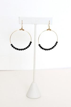 Black Sparkle Hoops