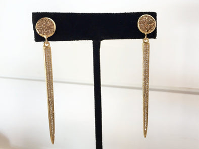 Gold Spike Dangles