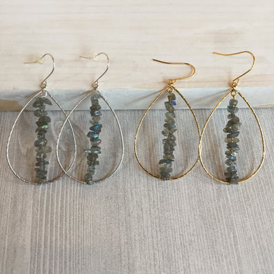 Labradorite Stack Up Hoops