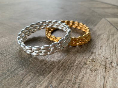 Walk this Way Wrap Bracelet - Gold or Silver