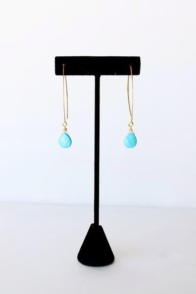 Eye on the Prize Earrings in Turquoise