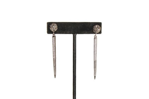 Gunmetal Spike Earrings