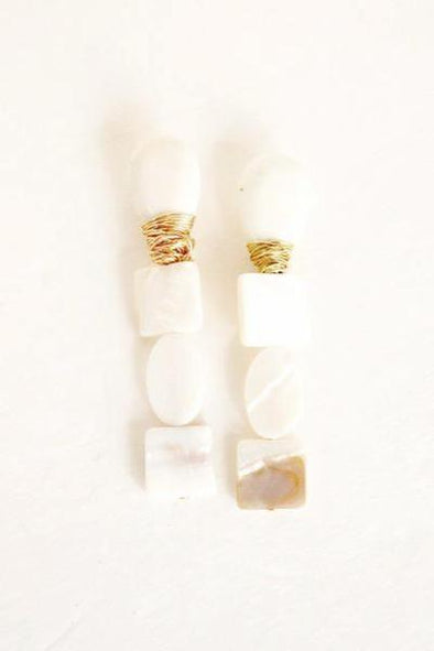 Mother Pearl Teardrop Earrings