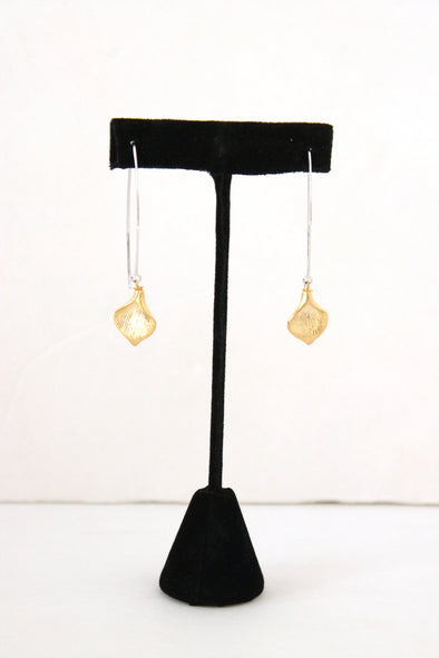 Hanging by a Thread Earrings in Mixed Metals