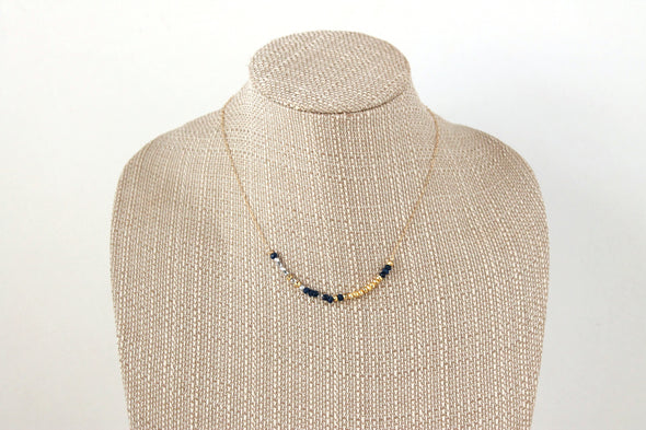 Lapis/Pyrite Bar Necklace