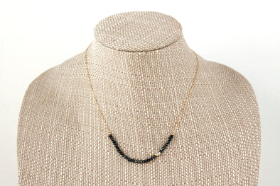 Pyrite/Czech Glass Bar Necklace