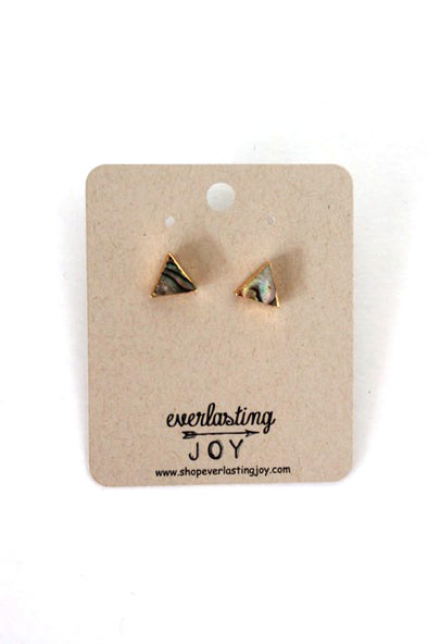 Shell Triangle Studs