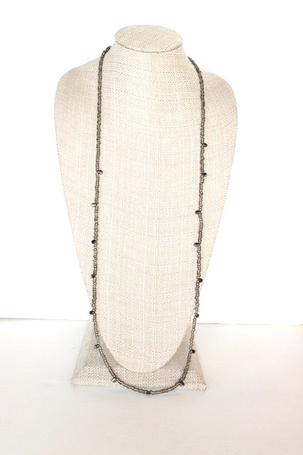 Drip Drop Necklace in Metallic