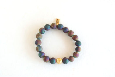 Metallica Rainbow Bracelet w/ Gold Bead