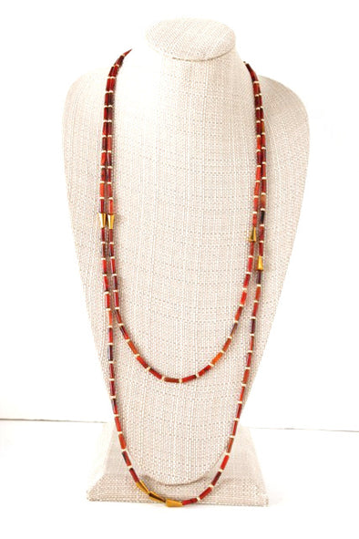 Double Take Necklace in Red