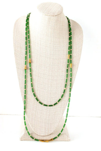 Double Take Necklace in Green