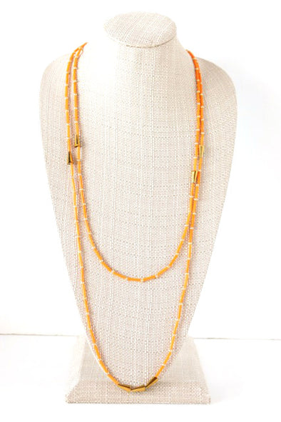 Double Take Necklace in Orange