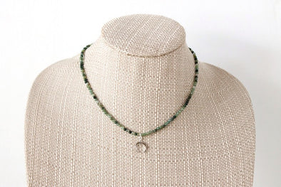 Twitch Necklace in Moss Green