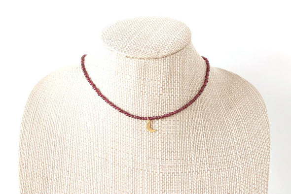 Twitch Necklace in Deep Red/Maroon