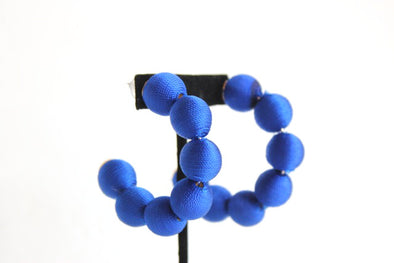 Play Ball Earrings in Blue