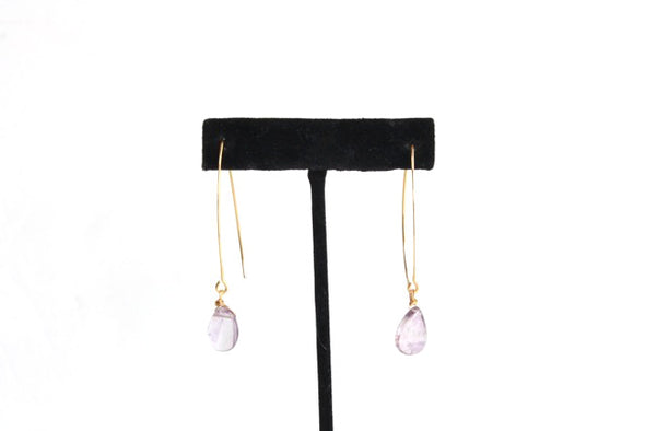 Hanging by a Thread Earrings (Gold/Amethyst)