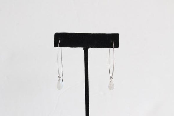 Hanging by a Thread Earrings (Silver/Moonstone)