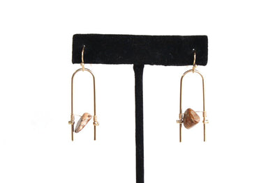 U've Got It Earrings in Red/Tan