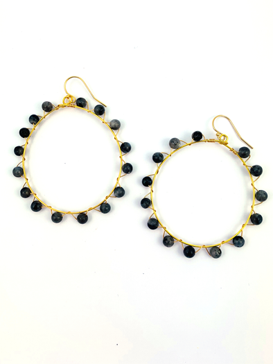 Wrap and Roll Hoops - Gold & Black Marble