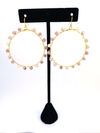 Wrap and Roll Hoops - Gold & Lilac Stone