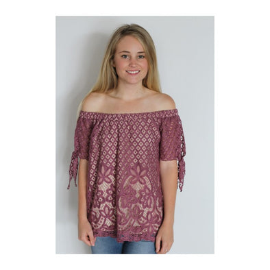 Lace OTS Top