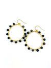 Wrap and Roll Hoops - Gold & Black Glass