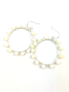 Wrap and Roll Hoops - Silver & Mother of Pearl