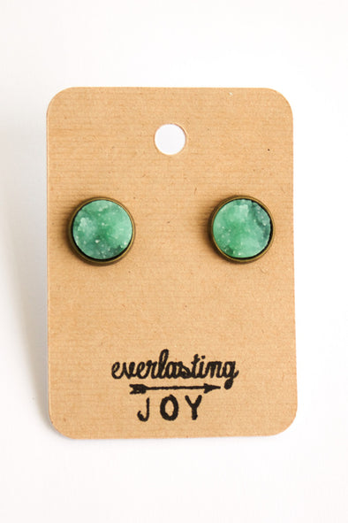Sunshine & Whiskey Studs - Mint