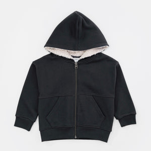 Faux Shearling Hooded Jacket | Play Up