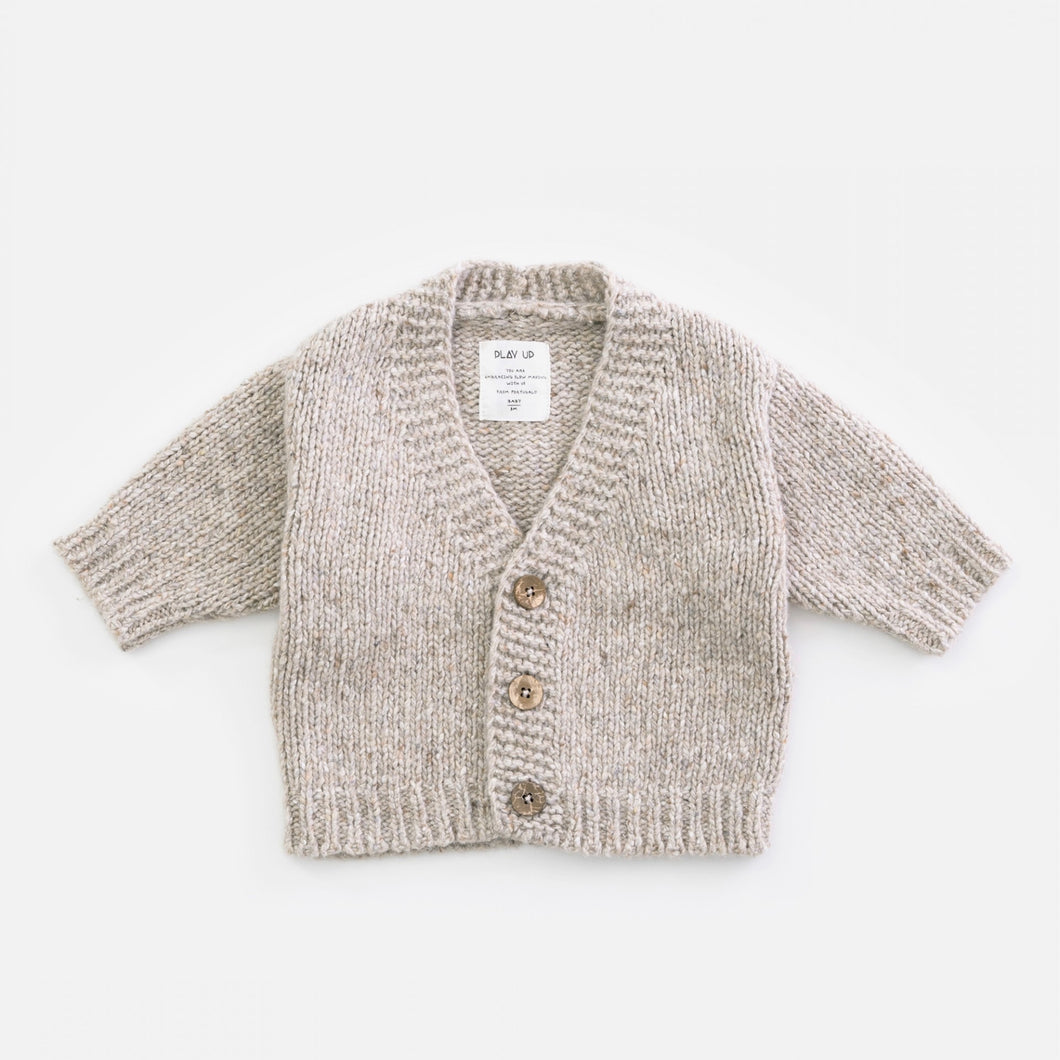 Knitted V-Neck Tricot Cardigan | Play Up