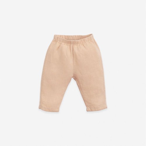 Linen Trousers w/ Scalloped Hem | Play Up