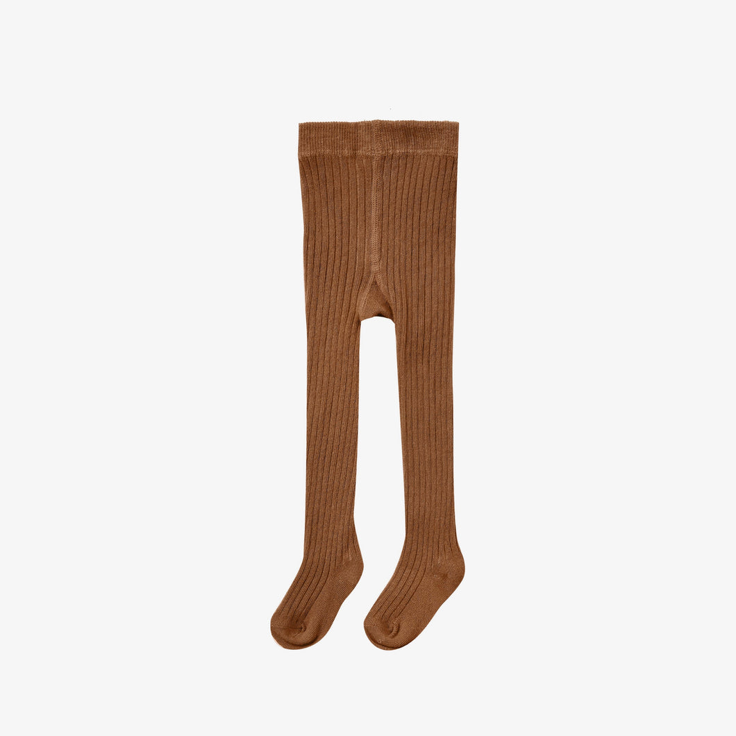 Solid Ribbed Tights Cinnamon | Rylee + Cru